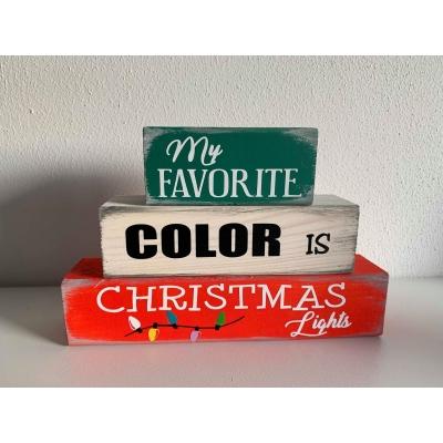 Blokken kerst COLOR