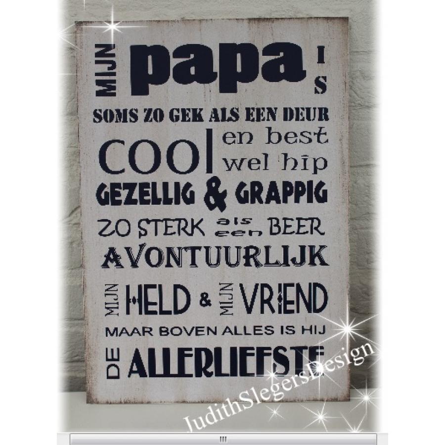 Tekstbord Papa cool